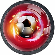 Flame Football Soccer Drawer Pulls Handles Cabinet