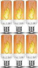 Flame LED Light Bulb in E27 Medium Edison Screw