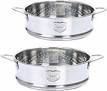 FLAMEER 2 Pieces Food Steamer Baskets Stock Pot