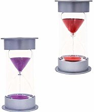 FLAMEER 2Pcs 25 Minutes Hourglass Sand Clock