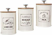 FLAMEER 3-Piece Kitchen Canister Set - Coffee,
