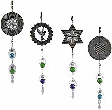 FLAMEER 4Pcs Metal Wind Chimes Spinner with Gazing