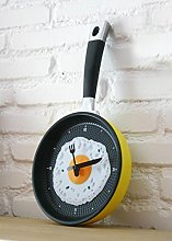 FLAMEER ABS Frying Pan Cutlery Wall Clock Watches
