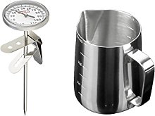 FLAMEER Metal Milk Frother Probe Thermometer