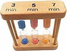 FLAMEER Set of 3/5/ 7 Minutes Hourglass Sand Clock