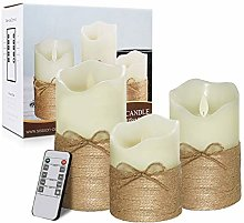 Flameless Wax Candles Lamp Battery Operated Real
