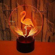 Flamingo 7 Color Lamp 3D Visual LED Night Lights