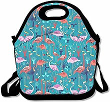 Flamingo Blue Lunch Bag Adjustable Strap