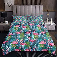 Flamingo Coverlet Tropical Flamingo Quilted