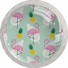 Flamingo Drawer Round Knobs Cabinet Pull Handles