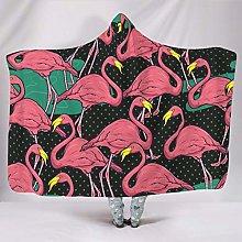 Flamingo Hooded Sofa Blanket Fleece Blanket for