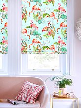 Flamingo Tropics Sky Roman Blind