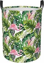 Flamingo Watercolor Circular Protable Storage Bin
