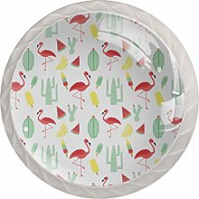 Flamingo Watermelon Cactus Pattern Drawer Knobs