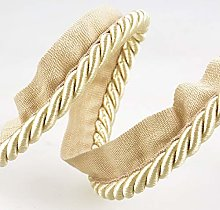 Flanged Piping Cord Beige - per metre