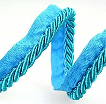 Flanged Piping Cord Blue - per metre