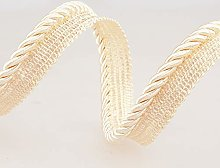 Flanged Piping Cord Cream - per metre