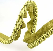 Flanged Piping Cord Green - per metre