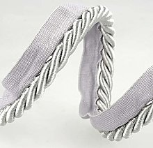 Flanged Piping Cord Grey - per metre