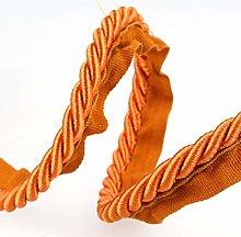 Flanged Piping Cord Orange - per metre