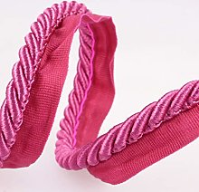 Flanged Piping Cord Pink - per metre