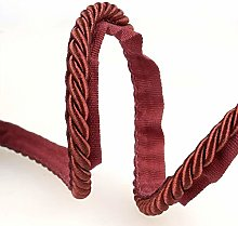 Flanged Piping Cord Wine - per metre