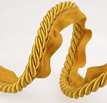 Flanged Piping Cord Yellow - per metre