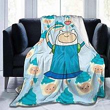 Flannel Fleece Throw Blankets,Adventure Time Finn