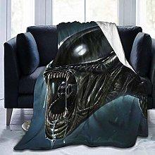 Flannel Fleece Throw Blankets,Alien Ultra Soft