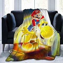Flannel Fleece Throw Blankets,Anime Mario Light