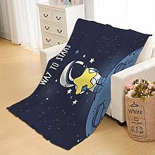 Flannel Fleece Throw Blankets Astronaut Super Soft