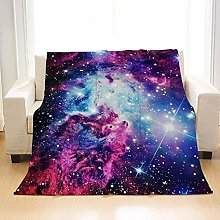 Flannel Fleece Throw Blankets Clouds Wolf Super
