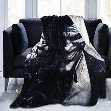 Flannel Fleece Throw Blankets,Clown Black Warm Bed
