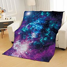 Flannel Fleece Throw Blankets Color Starry Sky
