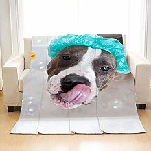 Flannel Fleece Throw Blankets Cute Dog Super Soft