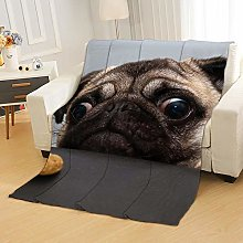 Flannel Fleece Throw Blankets Dog Biscuit Super