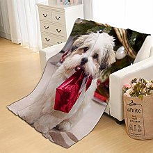 Flannel Fleece Throw Blankets Dog Gift Super Soft