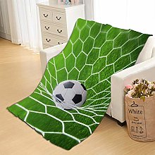 Flannel Fleece Throw Blankets Football Super Soft