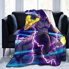 Flannel Fleece Throw Blankets,Mewtwo Travel Throw