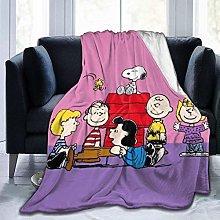 Flannel Fleece Throw Blankets,S-Noopy Cartoon