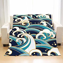 Flannel Fleece Throw Blankets Wave Super Soft