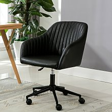 Flannigan Desk Chair Blue Elephant Upholstery