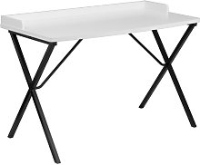 Flash Furniture Computer Desk, Metal, White