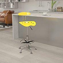 Flash Furniture Drafting Stool, Chrome,