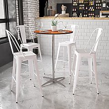 Flash Furniture Round Wood Cocktail Table with