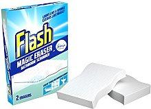 Flash Magic Eraser Bathroom Scrubber, 2 Erasers