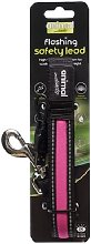 Flashing Safety Dog Lead (One Size) (Pink) -