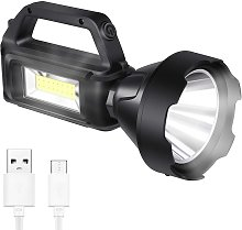 Flashlight with side light, solar charge,