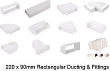 Flat Rectangular Ducting 220x90 Extractor