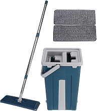 Flat Squeeze Mop Bucket Self Cleaning Microfiber